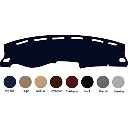 Black J22 Yiz Dash Cover Mat Custom Fit for 1981-1991 Chevrolet Chevy C//K//R//V Series Blazer,GMC C//K//R//V Series Jimmy,Dashboard Cover Pad Carpet