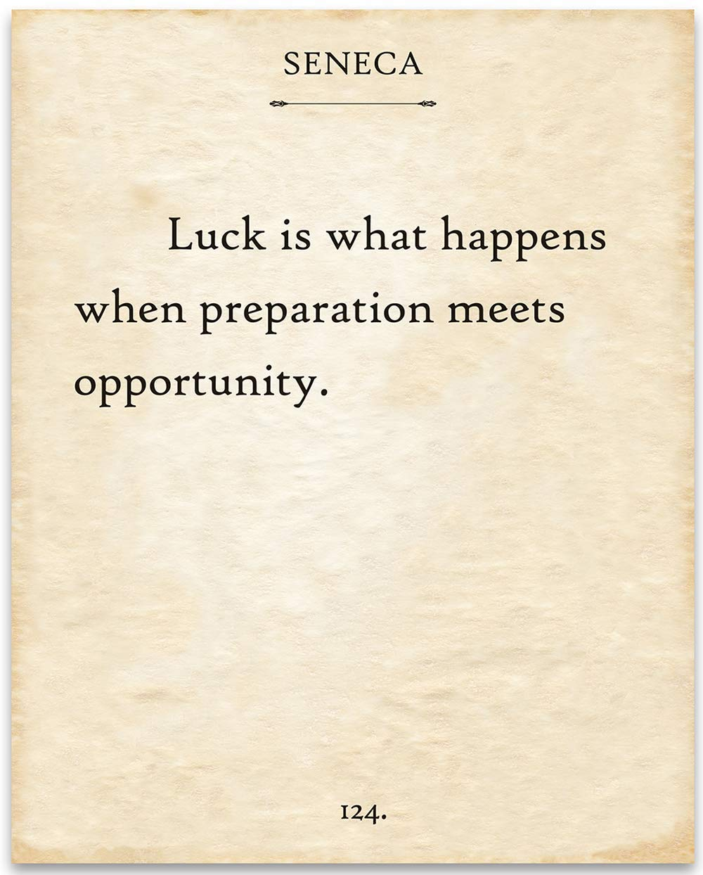 Seneca Quote - Luck is What Preparation Happens 70% OFF Outlet Tulsa Mall Meets When Oppor