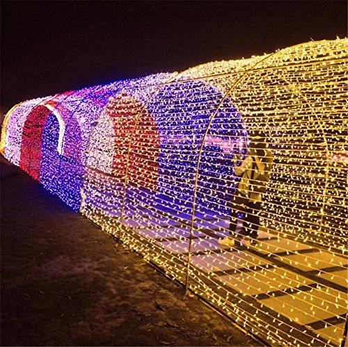LUCKY CLOVER-ALumières de lumières solaires de Noël 22 mètres 200 LED, Lumières de fées étoilées Extérieur, Jardin, Maisons, Mariage, Fête, Décoration de vacances (imperméable à l'eau, 8 modes)