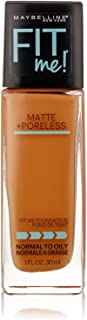 Maybelline New York Fit Me! Matte + Poreless Foundation, Coconut [355] 1 oz (Pack of 3)