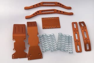 RC Raven T-Maxx Orange Anodized Aluminum Package with Free Silver Dual Rate Springs