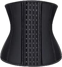 Vandeng Women's Waist Trainer for Weight Loss Trimmer Slimmer Belt Latex Underbust Corsets Cincher