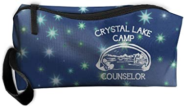 Camp Crystal Lake Beauty Women Cosmetic Bags Portable Travel Toiletry Pouch Makeup Organizer With Zipper