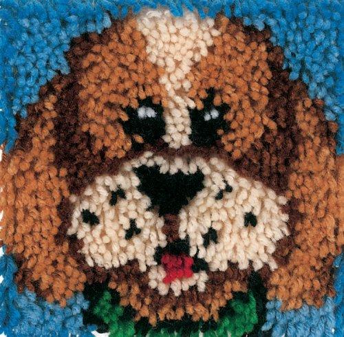 Wonderart Latch-Hook Kit, Puppy, 8' X 8'