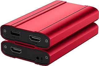 キャプチャーボード 4K入力 USB3.0 1080P 60FPS パススルー HD キャプチャーボックス ゲーム録画/ビデオ録画/ライブ配信/医用撮像/生放送用 Switch/PS5/PS4/Xbox/PS3/スマホ用 OBS/Potplay...