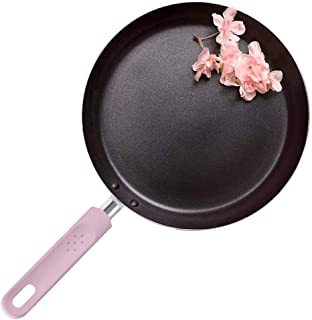 ROCKURWOK Non-Stick Fry Pan, Pancake Omelette Crepe Saute Skillet, Stainless Steel, 9.5-Inch, Pink