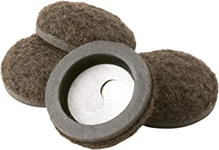 Super Sliders 4336395N Formed Felt Furniture Movers For Hard Surfaces, 1-1/4 Inch, Brown