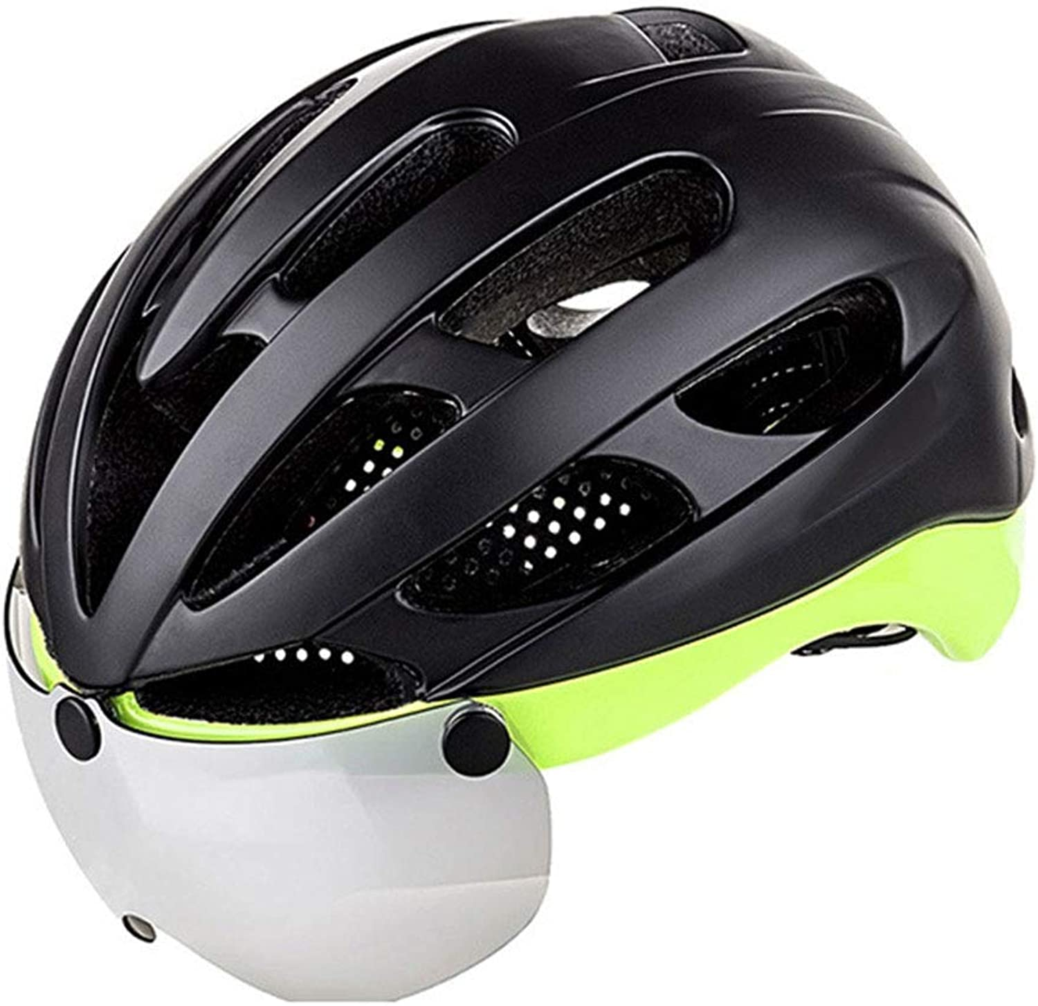 Bicycle Helmet, Detachable Magnetic Goggles Riding Mountain Road Helmet Adjustable Adult Safety Predection Breathable
