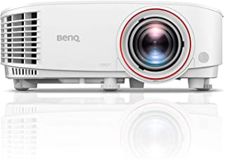 BenQ TH671ST 1080p Short Throw Projector   3000 Lumens for Lights On Entertainment   92% Rec. 709 for Accurate Colors   Low Input Lag Ideal for Gaming