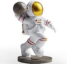 Astronaut Figurine Statue, Dunk Astronaut Action Figure Sculpture for Desktop & Tabletop, Resin Spaceman & Planet Desk Orn...