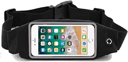i2 Gear Running Belt Waist Pack with Touch Screen - Cell Phone Belt Holder Case with Zipper Pouch Compatible with iPhone 11, XS, XR, XS Max, 6 Plus, SE & Galaxy S10, S9, S8, S7, A8, A6 Pixel, LG