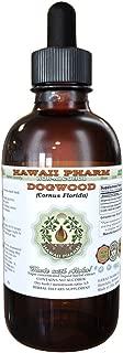 Dogwood Alcohol-FREE Liquid Extract, Dogwood (Cornus Florida) Dried Bark Glycerite Hawaii Pharm Natural Herbal Supplement 2 oz