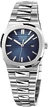 Women's Wrist Watch ROCOS Japanese CITZEN Quartz Watch with Blue Dial Square Watch for Women Ladies Crystal Analog Watches Luxury Classic Elegant #R0139L