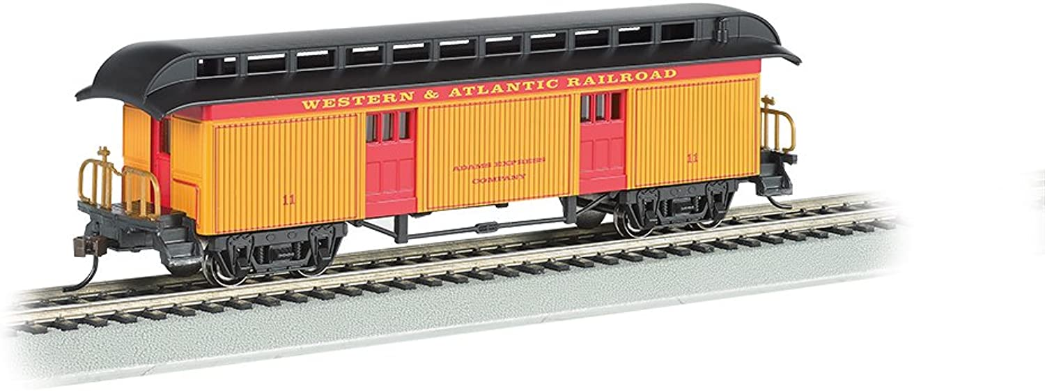 Bachmann Industries Baggage Western & Atlantic Rr Ho Scale Old-Time Car with Round-End Clerestory Roof