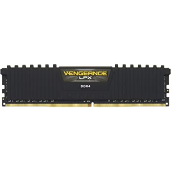 Corsair CMK16GX4M2A2133C13 Vengeance LPX 16 GB (2 x 8 GB) DDR4 2133 MHz C13 XMP 2.0 High Performance Desktop Memory Kit, Black