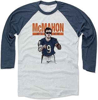 500 LEVEL Jim McMahon Shirt - Vintage Chicago Football Raglan Tee - Jim McMahon Sketch