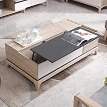 Lift Top Coffee Table, Modern Wood Home Living Room Furniture Coffee Table Desk with Drawer and Large Storage Shelf, Conve...