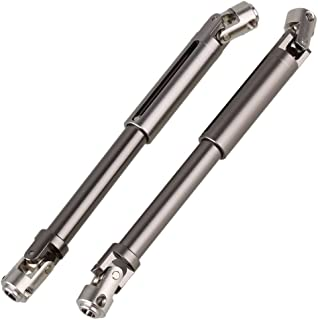 Mxfans 2PCS Titanium Color Aluminium SCX0016 Upgrade Universal DriveShaft for AXIAL SCX10 ELECTRIC 4WD for RC1:10 Off-Road Model Car