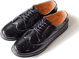 [MANEBU マネブ] UKI FACE SKIN ウイングチップ(ブラック) メダリオン スニーカーソール スケボー 革靴