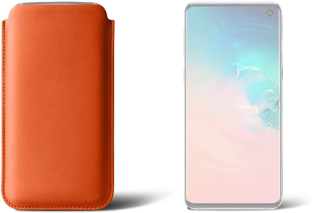 Lucrin - Classic Case Compatible Max 42% OFF with Genu S10 Super beauty product restock quality top! Orange Galaxy