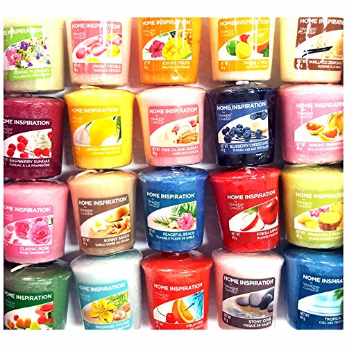 12 x Home Inspiration Official Yankee Candle Votive Sampler Candles Rare Assorted Fragrances