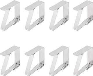 JZK 16 x Fermatovaglia Acciaio Inox per Tavolo Giardino mollette tovaglia Clip tovaglia in Metallo per tovaglia da Tavolo BBQ Esterno