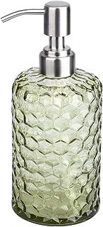 UUJOLY 16.9 Oz Soap Dispenser for Bathroom, Kitchen, Refillable Glass Soap Dispenser, Hand Soap Dispenser, Refill Detergen...