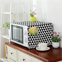 HHYK 4YANG Microondas Cubierta del Horno microondas de la Capilla Aceite de la Cubierta de Polvo con Bolsa de Almacenamiento Accesorios Cocina de la decoración del hogar (Color : Black)