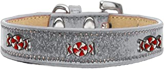 Mirage Pet Products 633-28 SV10 Peppermint Widget Ice Cream Dog Collar, Size 10, Silver