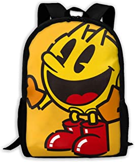 Kljdfo Pac Man Character Classical Basic Travel Backpack for School Water Resistant Bookbag