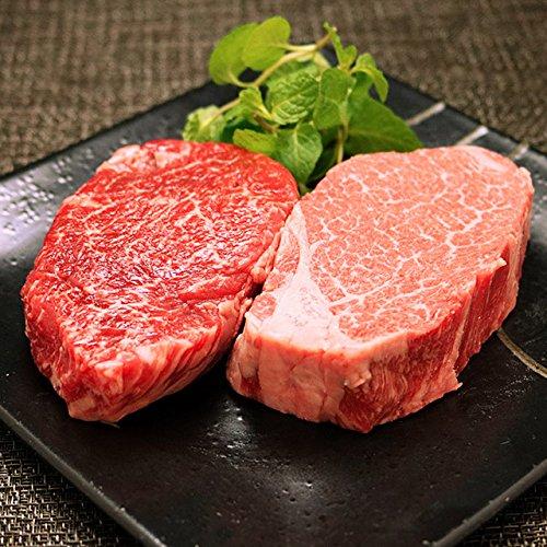[肉贈] 米沢牛 ギフト A5 A4 「ヒレ&ランプ」ステーキ 食べ比べ セット 各100g × 7枚 お中元