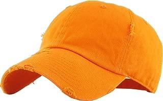 KBETHOS Vintage Washed Distressed Cotton Dad Hat Baseball Cap Adjustable Polo Trucker Unisex Style Headwear
