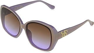 Women's J5839 Two-Tone Geometric Sunglasses with...