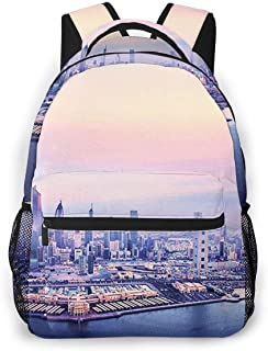 Travel Laptop Backpack Casual Backpack Kuwait City, Anti Theft Durable Computer Bag, Water Resistant College School Bag for Women Men Fits 14 Inch Notebook