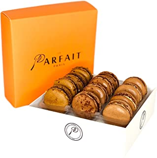 Le Parfait Paris Chocolate Lovers Macaron Box - Heavenly Gourmet French Meringue-Based Dessert Set - Baked and Delivered Fresh - Delicious Luxury Gift, Party Favor and Sweet Snack - Box of 12 Macarons