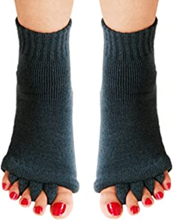 Yoga Sports Gym Five Toe Separator Socks Foot Alignment Pain Massage Socks