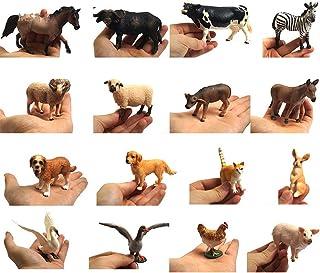 Vivid Arts Real Life farm animal statue set, Montessori Teaching Prop Wedding Decor 16pcs