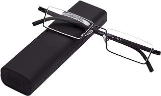 LianSan Retro super lichte leesbril heren dames unisex bril metalen frame halfframe model L3801 CE