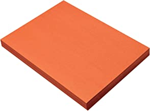 SunWorks Heavyweight Construction Paper, 9 x 12 Inches, Orange, 100 Sheets