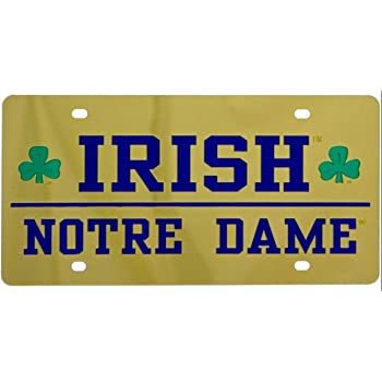 Gold Mirror Background Stockdale Notre Dame Fighting Irish Inlaid Acrylic License Plate