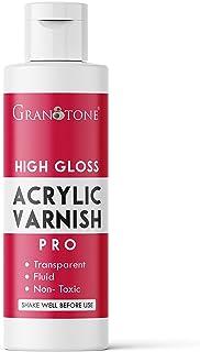 GRANOTONE Acrylic Artist's Varnish     Non Yellowing   Non Toxic   Anti- Crazing   Pro Artist, Hobby Painters & Kid   Made...