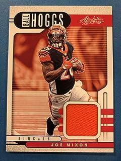 2019 Absolute Football Ball Hoggs Relics #4 Joe Mixon ORANGE JERSEY Cincinnati Bengals Official Panini NFL Trading Card