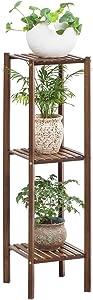 Bamboo Utility 3 Tier Plant Stand Rack Multiple Flower Pot Holder Shelf Indoor Outdoor Planter Display Shelving Unit for Patio Garden