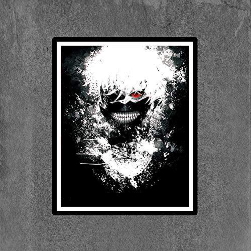 Tokyo of Ghoul Kaneki Ken Manga Anime Canvas Art Print Poster,8 x 10 Inches,No Frame,Set of 1
