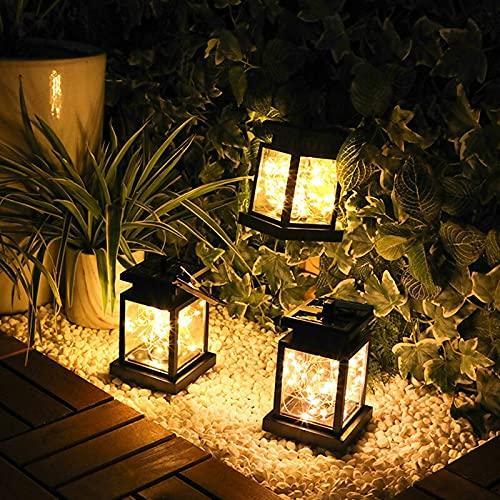 XLLQYY Linterna solar LED solar jardín luces al aire libre lámpara de calle impermeable Dwater lámpara solar terraza jardín retro decorativo balcón lightsSolar jardín luz