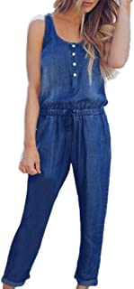 2019 Women Loose Jeans Jumpsuit Strap Bib Pant Trousers Casual Overall Baggy Trousers by-NEWONESUN