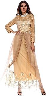 b13684f470e0e Hougood Abaya Robes Femmes Maxi Robe Demoiselle d honneur Robe Musulman  Islamique Manches Longues Dubai