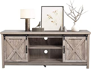 BWM.Co Farmhouse Wooden TV Stand, Modern Style TV Console...