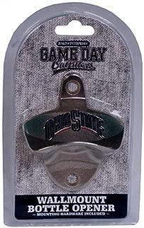 NCAA Ohio State Buckeyes Bottle Opener Metal Retro Wall Mount, Small, Metallic with Team Color