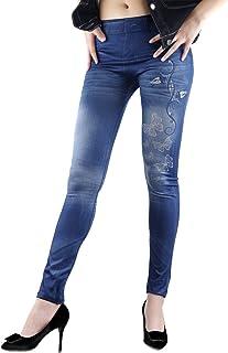 TININNA Mujer Pantalones elásticos 3D Moda de la Mariposa Digital Print,Estirar elástico Flaco Mirada del Dril Polainas Je...